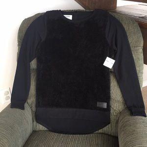 Volcom Black Butter Fleece Pullover Sweatshirt, SP